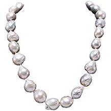 d9a18bea5d82 JYX Pearl Collar de Perlas Barrocas Blancas 47cm