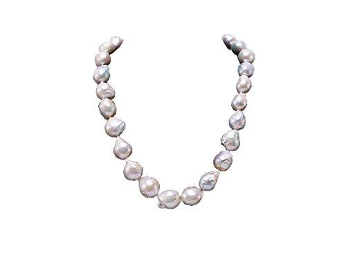 jyx Halskette Süßwasser-Zuchtperle 11–12mm Weiß Barock 45,7cm - Perle-perlen-halsketten-bulk