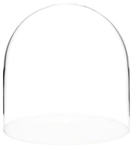 plymor Marke Glas Puppe Dome mit ohne Boden-20,3x 20,3cm (Glas-dome-vitrine)