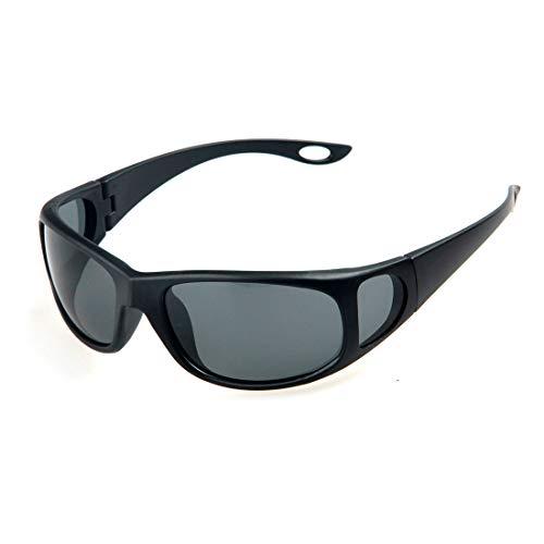Easy Go Shopping Persönlichkeit Schwarzer Rahmen Sport-Sonnenbrille Polarisierte TAC-Linse Langlebiger UV400-Schutz Fahren Radfahren Laufen Angeln Golf Sonnenbrille Sonnenbrillen und Flacher Spiegel