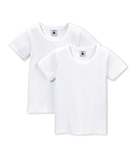 Petit Bateau Mädchen Unterhemd Lot 2p T Shirtmc, 2er Pack, Weiß (SPECIAL LOT 00), Gr. 126 CM (Herstellergröße: 8 Jahre) (Unterhemd Petit Bateau)