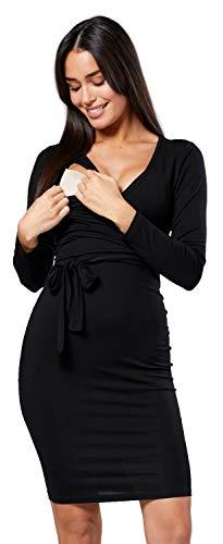 Happy mama.donna prémaman allattamento vestito cravatta in vita scollo a v. 596p (nero, it 48, 2xl)