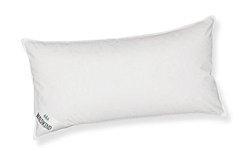 Waldkind 236438 Kopfkissen Federn Daunen 40 x 80 cm mit Biese, Bezug 100% Baumwolle, Füllung 85% Federn 15% Daunen, 550 g