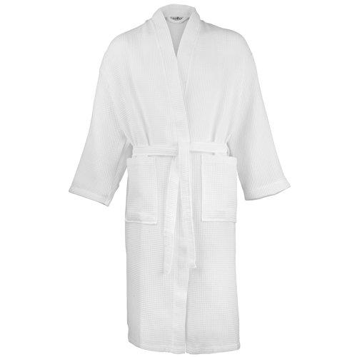 Towel City Waffle-Accappatoio vestaglia spugna tradizionale accappatoi Bianco