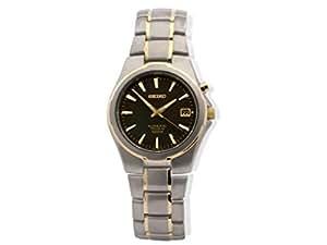 Seiko Men's Titanium Two Tone Kinetic Watch - SKA214
