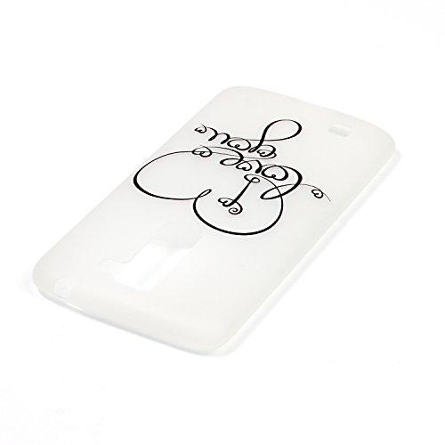 CaseHome LG K10 Luminous Hülle (Mit Frie Displayschutzfolie) Leuchtende Silikone Rückhülle Für iPhone 6 6s Plus 5.5 Zoll Zoll Silikon Etui Handy Hülle Weiche Transparente Luminous TPU Back Case Tasche Ich liebe dich