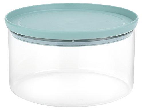 Brabantia glass stackable storage jar 2l-in vetro borosilicato, verde, 20 cm