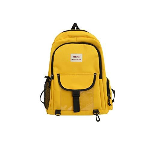 Sonnena Schulrucksack Teenager Mädchen Schultaschen Canvas Schulrucksäcke wasserdichte Große Rucksack Schultasche Daypacks für 12-15.6 Zoll Laptop Notebook Studentenrucksack Reise Paar Tasche