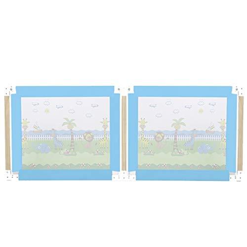 Bettgitter Bettschutzgitter 180cm / 200cm extra hohe for Doppel/Twin/Queen/King Bett, Jungen/Mädchen/Baby Mesh (Color : Blue, Size : 200cm/79 inch) (Betten Für Jungen Xl Twin)