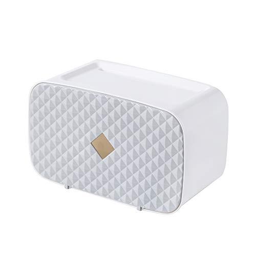 AAPP SHOP Papierrolle Papier Punch-Free Multi-Funktion Hand Fach wc Toilettenpapier, WC-Papier in Fach- und wasserfestem Papier Regal, Hellgrau
