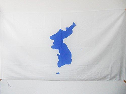 AZ FLAG Flagge KOREANISCHE WIEDERVEREINIGUNG 90x60cm - Nord- UND SÜDKOREA Fahne 60 x 90 cm Scheide für Mast - flaggen Top Qualität