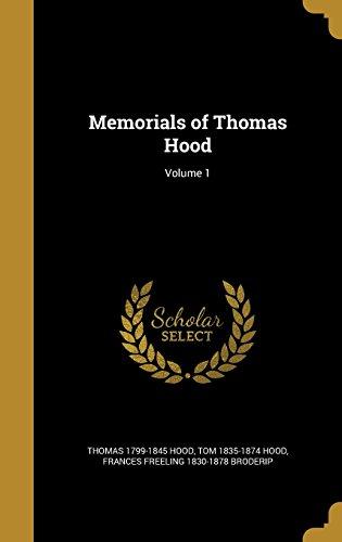 Memorials of Thomas Hood; Volume 1