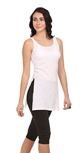 Ultrafit Cotton Suit Slips & Camisoles For Women- White - Small
