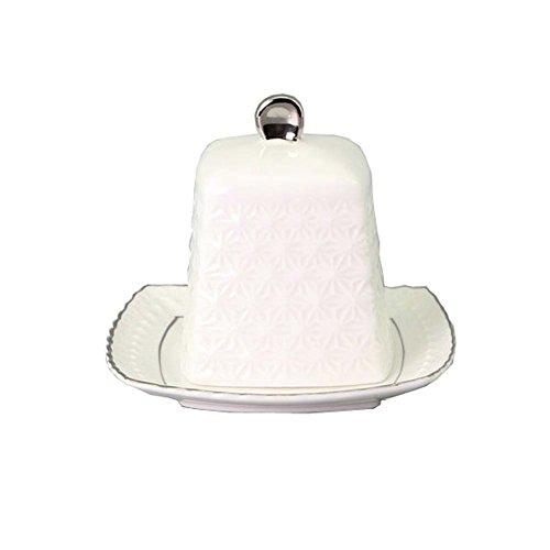 Plat de beignet de style nordique Boîte à fromage à dessert en grès Ensemble de beurre pour cuisine/Hôtel / Restaurant