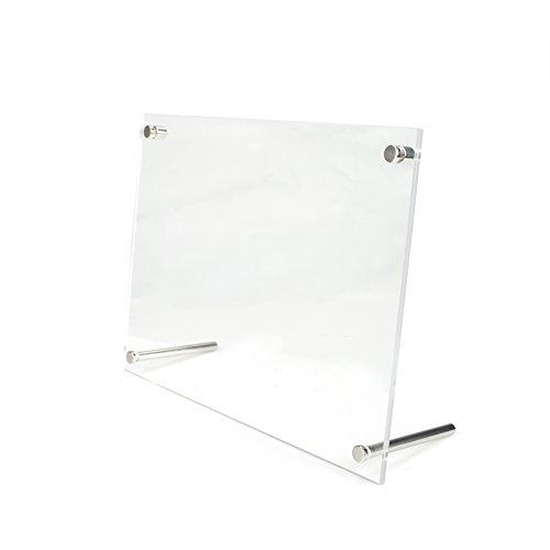aspire Acrylbilderrahmen Klarer freistehender Desktop L-Frame-Sockel Foto Holder-7.25X5.25 -