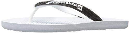 Quiksilver Haleiwa, Tongs Homme Black/White/White