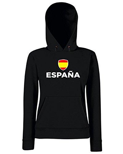T-Shirtshock - Sweats a capuche Femme TR0124 spagna t-shirt Noir