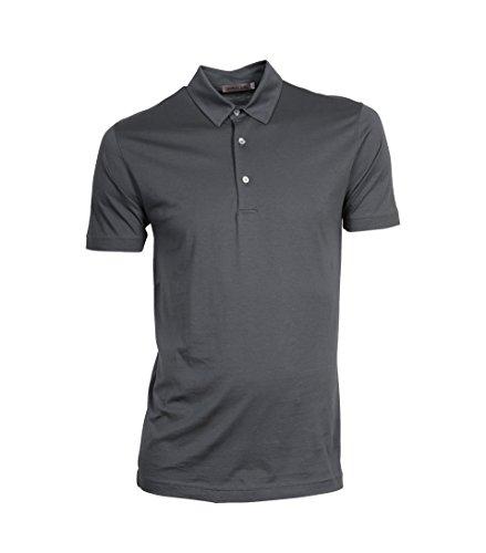 GRETA & LUIS Herren Premium-Poloshirt luuk in Grau Alu