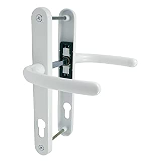 uPVC Door Handles Set Lever/Lever White 92pz - 210mm Screw to Screw - Back Plate 240mm