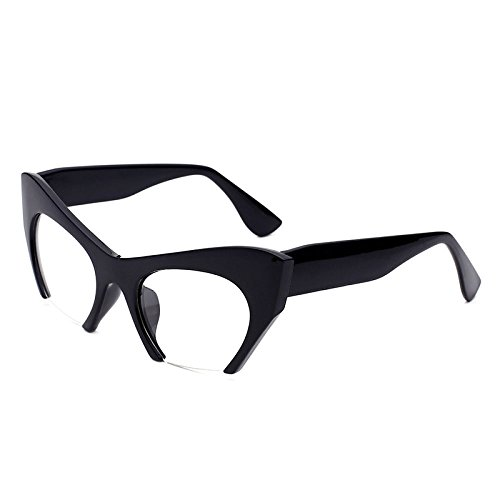 xuexue Simple Sunglasses Popular Trendy Fashion Ussia Half-frame Cat's Eye Flat Mirror Individuality Diesy Retro Sunshade Mirror