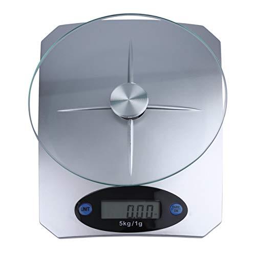 Tree-on-Life 5 kg x 1 g Digitale Küchenwaage Glasspitzen-Nahrungsmitteldiätwaage Haushaltsküchenwaage - Plattform Top Basis