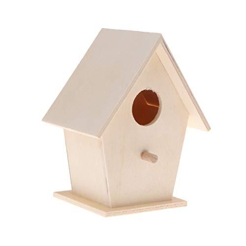 rhaus zum selbst Bauen Bausatz Vogelhaus Vogelhäuschen Vogelhaus zum selbst bemalen Garten Deko ()