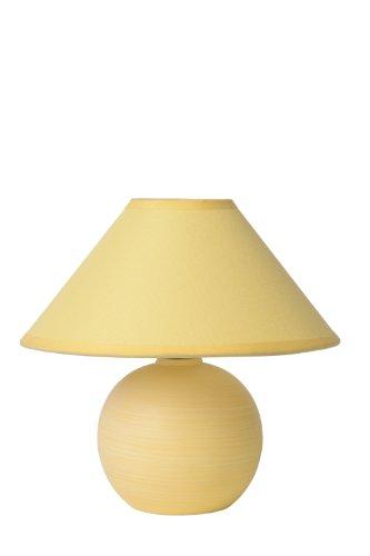 Lucide FARO - Lampe De Table - Ø 20 cm - Jaune