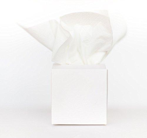 Marry & You 50 Freudentränen Hochzeit -Taschentücher Hochzeit -Gastgeschenke Hochzeit - Geschenkverpackung für die Freudentränen 5x5x5 cm für die Hochzeit, Taufe, Geburtstag,