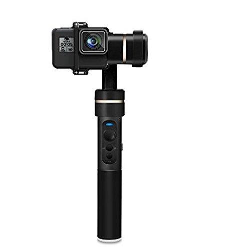 Feiyu G5 V2 Camera Estabilizador de Vídeo 3-Axis Salpicaduras Handheld Gimbal Mini Trípode para GoPro HERO 5, HERO 4, HERO 3/3 + Negro