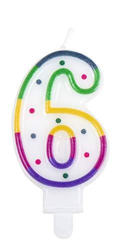 6 mit Halter Höhe 7cm Geburtstags Dekoration Kuchen ()
