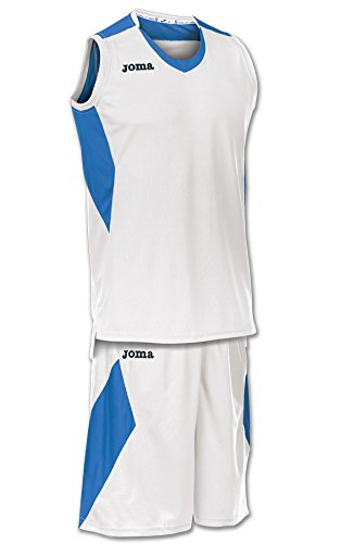 Joma Space - Basketball-Shirt und -Hose für Herren, Farbe weiß / marineblau.  Größe M weiß/royal blau