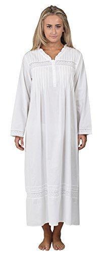 fürThe 1 for U 100% Baumwolle Nachthemd - Annabelle S - XXXXL Weiß