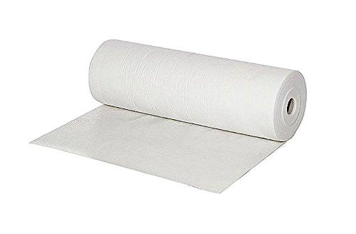 enviro foil - 1 Rolle mit 50m² - Maler Abdeckvlies weiß 180 g/m2, 50 x 1m - selbstklebend - saugfähig, staubfrei, mehrfach verwendbar | Malerfilz-Schutzfließ zum Tapezieren, Renovieren und Abdecken