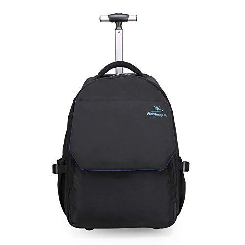WEISHENGDA Rucksack Trolley Rolling Rucksack Schultasche 19 Zoll für Kinder,Schüler und Studenten mit viel Stauraum für Reisen, Schule und Ausflüge -