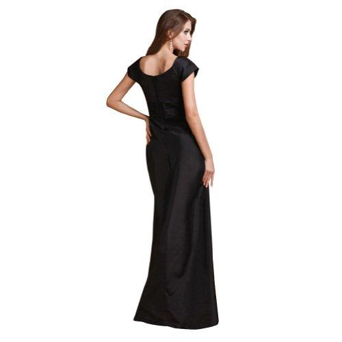 Sunvary una modesta linea abito da sera sera maniche corte, donna Black