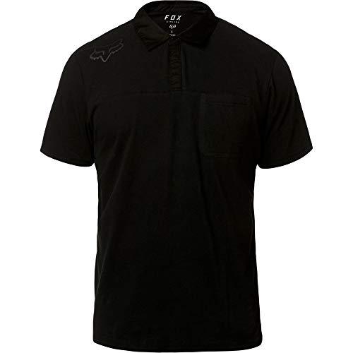 Fox Racing Men's Redplate 360 Tech Polo Short Sleeve Shirt Black Black XL