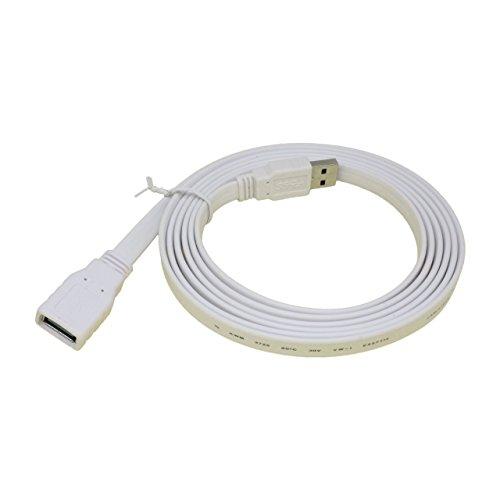 nument Bianco Piatto Cavo di prolunga USB 3.0universale, lunghezza 2m