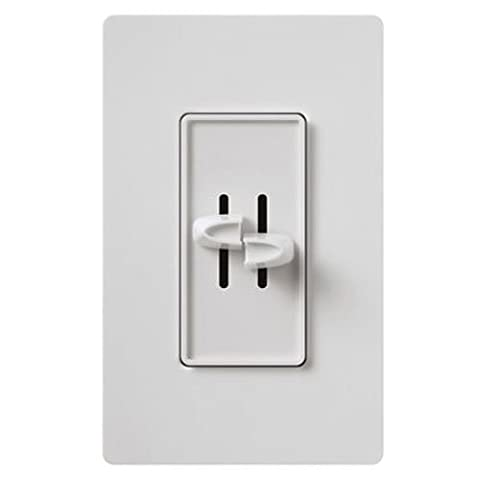 Lutron Electronics S-2Lh-Wh Single Pole Slide-to-Off Incandescent Dimmer, 300-watt, White