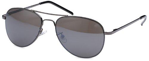 Sonnenbrille Pilotenbrille für schmale Köpfe und Gesichter mit Federbügeln + Brillenbeutel Fliegerbrille