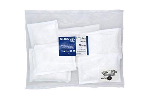 10 Sachets Trocknungsmittel Silicagel, 30 Gramm spezifische Tyvek Wrap DIN und MIL frei Dimethylfumarat