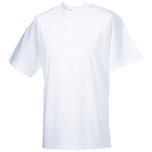 Russell Classic schwere ringgesponnene T-Shirt Weiß - Weiß