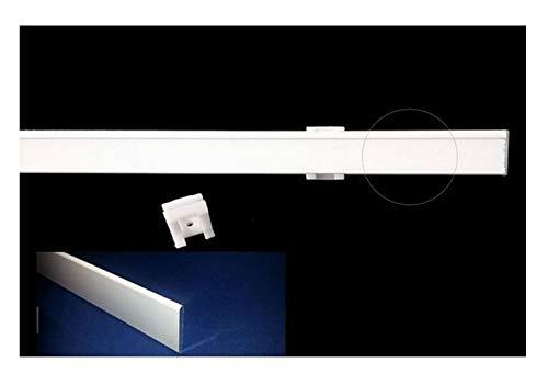 Mauro binario completo per tende a pannello a finestra-larghezza da cm 40 a 100 - optional:coppia supporti fissaggio senza viti (g - 70 cm)