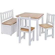 BABYDAY Ensemble Table Et Chaises Pour Enfants 1 2 Banc Coffre