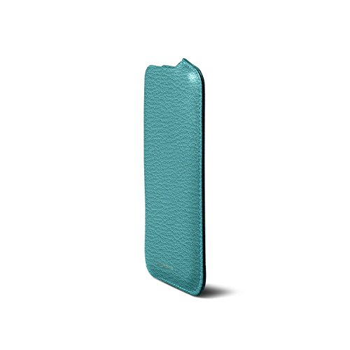 Lucrin - iPhone 7/6/6s-Hülle mit Seitenöffnung - Fuchsia - Ziegenleder Himmelblau
