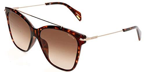 Police Damen SPL404 Sonnenbrille, Braun, 55