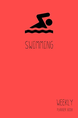 Swimming Weekly Planner Book: Classic Red 6x9