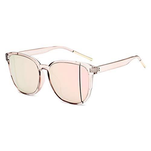 Sonnenbrillen Mode Polarisierte Sonnenbrille Lady Retro Round Frame Sunglasses Driving Holiday Travel UV400 Schutz. (Farbe : Rosa)
