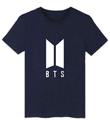 06f54a7151 SIMYJOY Pareja Bangtan Boys Fans Camiseta BTS KPOP Loveyourself Her T-Shirt  Hip Pop Cool