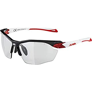 ALPINA Erwachsene Twist Five HR VL+ Sportbrille, Black-red-White, One Size