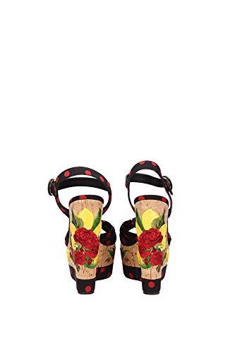C18934AF3448U938 Dolce&Gabbana Compensée Femme Tissu Noir Noir